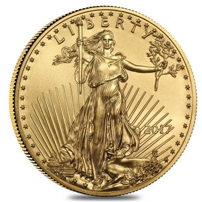 2017 1 oz Gold American Eagle $50 Coin BU