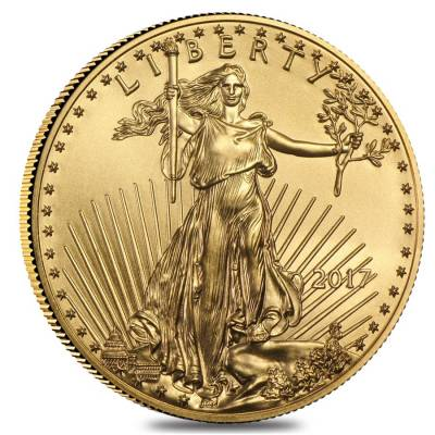 2017 1/10 oz Gold American Eagle $5 Coin BU