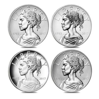2017 American Liberty 225th Anniversary Silver 4 Four-Medal Set (w/Box and COA) - P/S/W/D US Mint