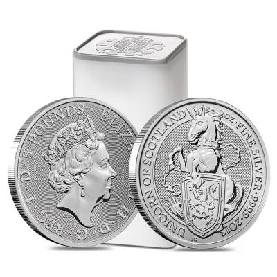 2018 Great Britain 2 oz Silver Queen's Beast (Unicorn of Scotland) Coin .9999 Fine BU
