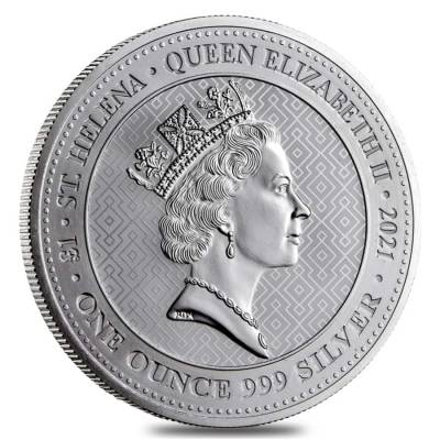 2021 St. Helena 1 oz Silver The Queen's Virtues - Victory Coin .999 Fine BU