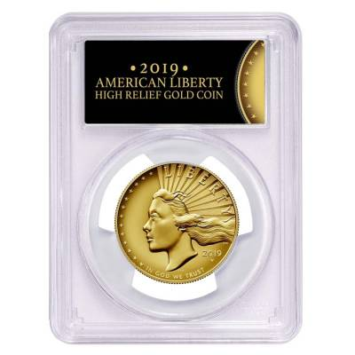 2019 W 1 oz $100 American Liberty High Relief Enhanced Uncirculated Gold Coin PCGS SP 70 PL FS (Liberty Label)