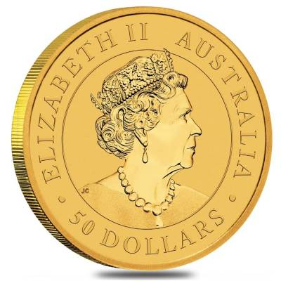 2020 1/2 oz Australian Gold Kangaroo Perth Mint Coin .9999 Fine BU In Cap