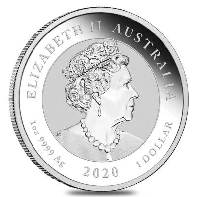 2020 1 oz Silver Australian Bull and Bear Coin Perth Mint .9999 Fine BU In Cap