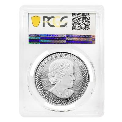 2019 1 oz Modified Proof Silver Canadian Maple PCGS PF 69 (Pride of Two Nations)