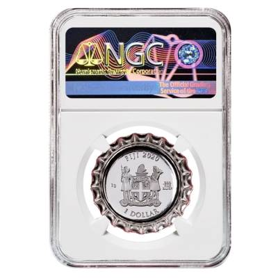 2020 6 gram Fiji Coca-Cola Israel Bottle Cap $1 Proof Silver Coin NGC PF 70 Early Releases