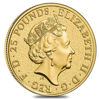 2019 Great Britain 1/4 oz Gold Queen's Beasts (Yale) Coin .9999 Fine BU