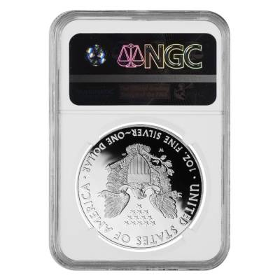 2013-W 1 oz Proof Silver American Eagle NGC PF 70 UCAM (Edmund C. Moy Signature)