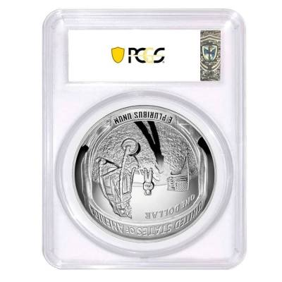2019 P 5 oz Apollo 11 50th Anniversary Proof Silver Dollar Comm. PCGS PF 70 FDOI