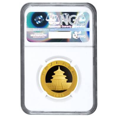 2016 15 Gram Chinese Gold Panda 200 Yuan NGC MS 70 Early Releases