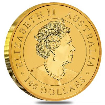 2019 1 oz Australian Gold Kangaroo Perth Mint Coin .9999 Fine BU In Cap