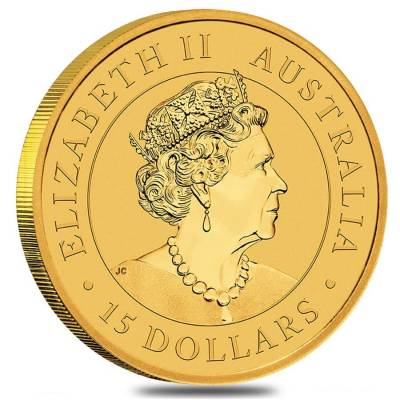 2019 1/10 oz Australian Gold Kangaroo Perth Mint Coin .9999 Fine BU In Cap