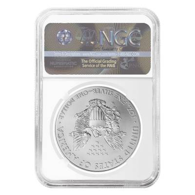 2014 W 1 oz Burnished Silver American Eagle $1 Coin NGC MS 70