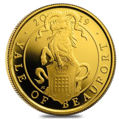 2019 Great Britain 1/4 oz Proof Gold Queen's Beasts (Yale) Coin .9999 Fine (w/Box & COA)