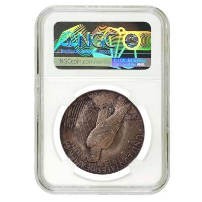 1921 Peace Silver Dollar $1 High Relief NGC MS 62
