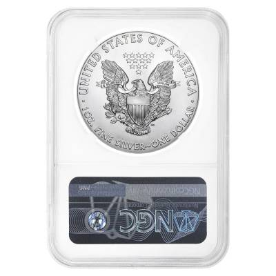 2021 (P) 1 oz Silver American Eagle NGC MS 69 ER (35th Anniv) Emergency Production
