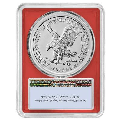 2021 1 oz Silver American Eagle Type 2 PCGS MS 70 FS (Red Frame)