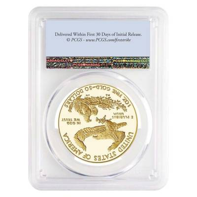 2021-W 1 oz $50 Proof Gold American Eagle PCGS PF 69 DCAM First Strike