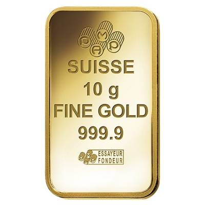 10 gram PAMP Suisse Gold Bar - Lakshmi (in Assay) .9999 Fine