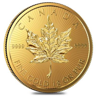 2016 25 x 1 gram Canadian Gold Maples .9999 Fine (Individual Assays)