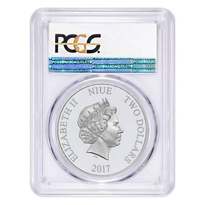 2017 1 oz Niue Silver $2 Disney Steamboat Willie PCGS MS 69 First Strike
