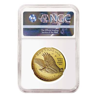 2017 W 1 oz $100 American Liberty High Relief Proof Gold Coin NGC PF 70 Early Releases (Flag Label)