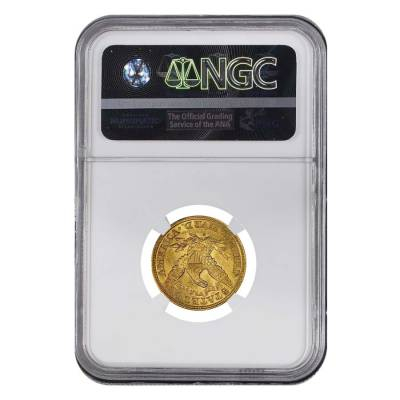 1886 S $5 Liberty Head Half Eagle Gold Coin NGC AU 58