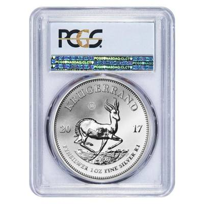 2017 South Africa 1 oz Silver Krugerrand PCGS SP 69 First Strike - 50th Annv. Privy (w/COA)