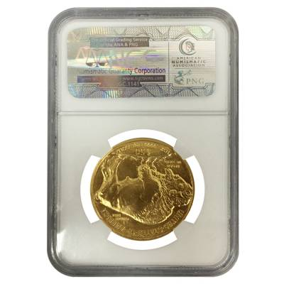 2009 1 oz $50 Gold American Buffalo NGC MS 70 Early Releases