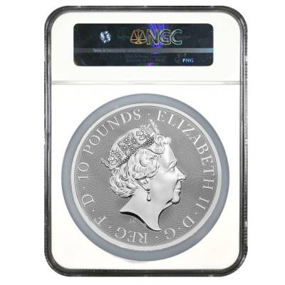2018 Great Britain 10 oz Silver Queen's Beast (Griffin) Coin NGC MS 70 ER