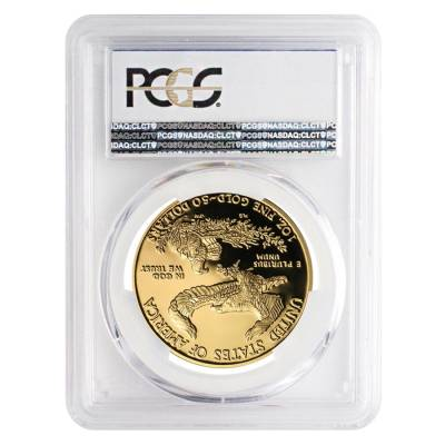 2018-W 1 oz $50 Proof Gold American Eagle PCGS PF 70 DCAM First Strike