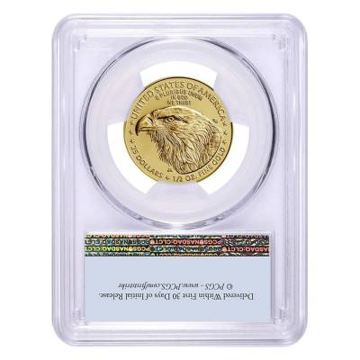 2021 1/2 oz Gold American Eagle Type 2 PCGS MS 69 First Strike