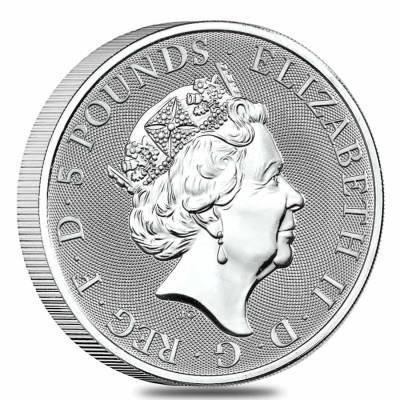 Roll of 10 - 2021 Great Britain 2 oz Silver Queen's Beasts Completer Coin .9999 Fine BU (Tube, Lot of 10)