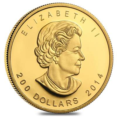 2014 1 oz Canadian Gold Howling Wolf - Call of the Wild $200 .99999 Fine Gold (In Assay)