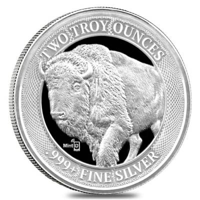 2 oz MintID Buffalo Silver Round .999+ Fine (NFC Scan Authentication)