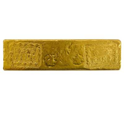 6.03 oz Wing Lung Bank 5 Tael Gold Bar .99 Fine