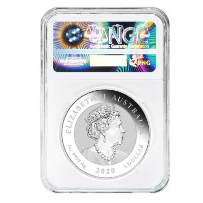 2020 1 oz Silver Australian Bull and Bear Coin Perth Mint NGC MS 69 Early Releases