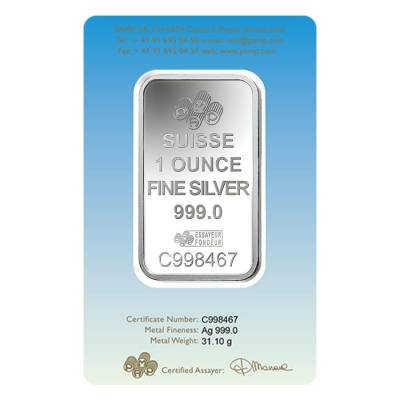 box of 25 1 oz pamp suisse silver bar romanesque cross