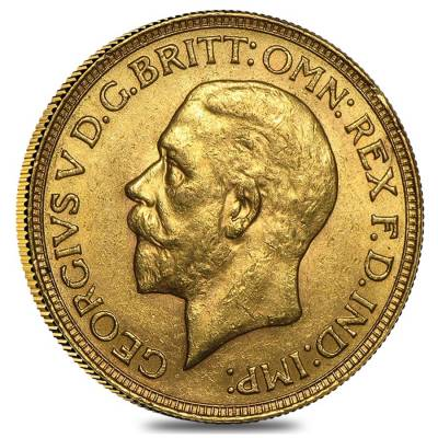 1925-1932-SA South Africa Gold Sovereign George V Avg Circ