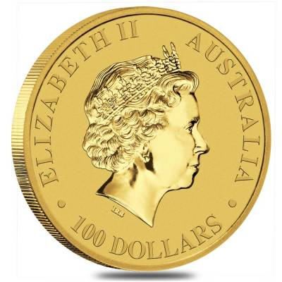2017 1 oz Australian Gold Kangaroo Perth Mint Coin .9999 Fine BU (In Capsule)