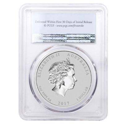 2017 1 oz Silver Year of The Rooster Australia Perth Mint PCGS MS 70 First Strike
