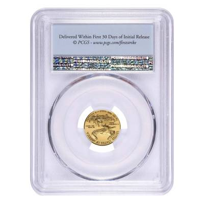 2017 1/10 oz Gold American Eagle PCGS MS 69 First Strike