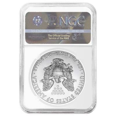 2017 1 oz Silver American Eagle $1 Coin NGC MS 70 Early Releases (Liberty Label)