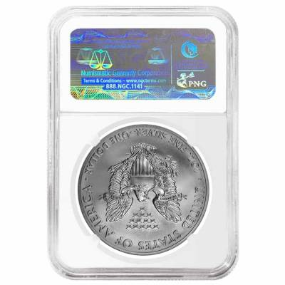 2011 1 oz Silver American Eagle 5-Coin Set NGC MS 70 / PF 70 Early Releases (25th Anniversary)