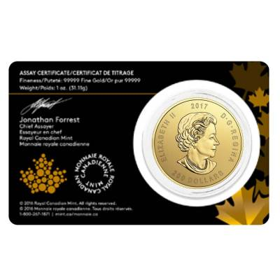 2017 1 oz Canadian Gold Elk - Call of the Wild $200 .99999 Fine Gold (In Assay)