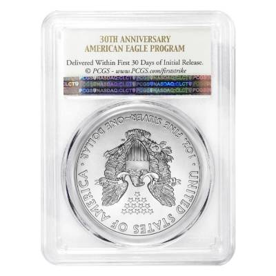 2016 1 oz Silver American Eagle $1 Coin PCGS MS 70 First Strike - 30th Anniversary