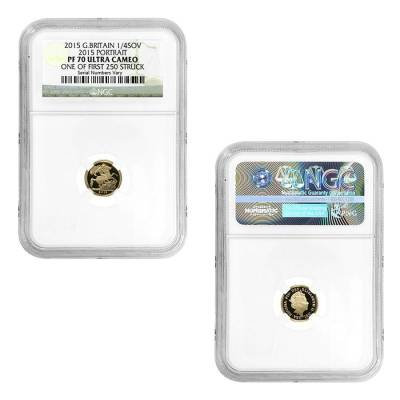 2015 2.0599 oz British Proof Gold Sovereign 5th Portrait 5-Coin Set NGC PF 70 UCAM