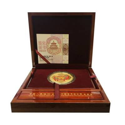 2019 150 gram Chinese Colorized Gold Lunar Year of the Pig 2000 Yuan (w/Box & COA)