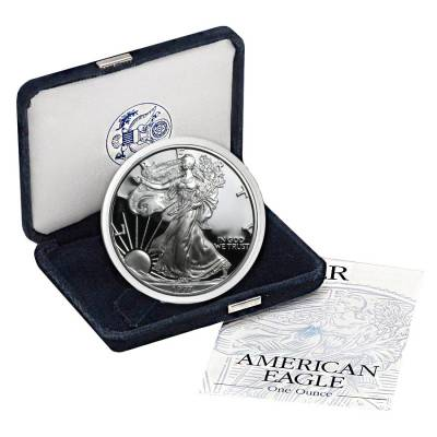 1997-P 1 oz Proof Silver American Eagle (w/Box & COA)