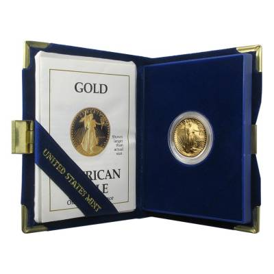 1989-P 1/4 oz $10 Proof Gold American Eagle (w/Box & COA)
